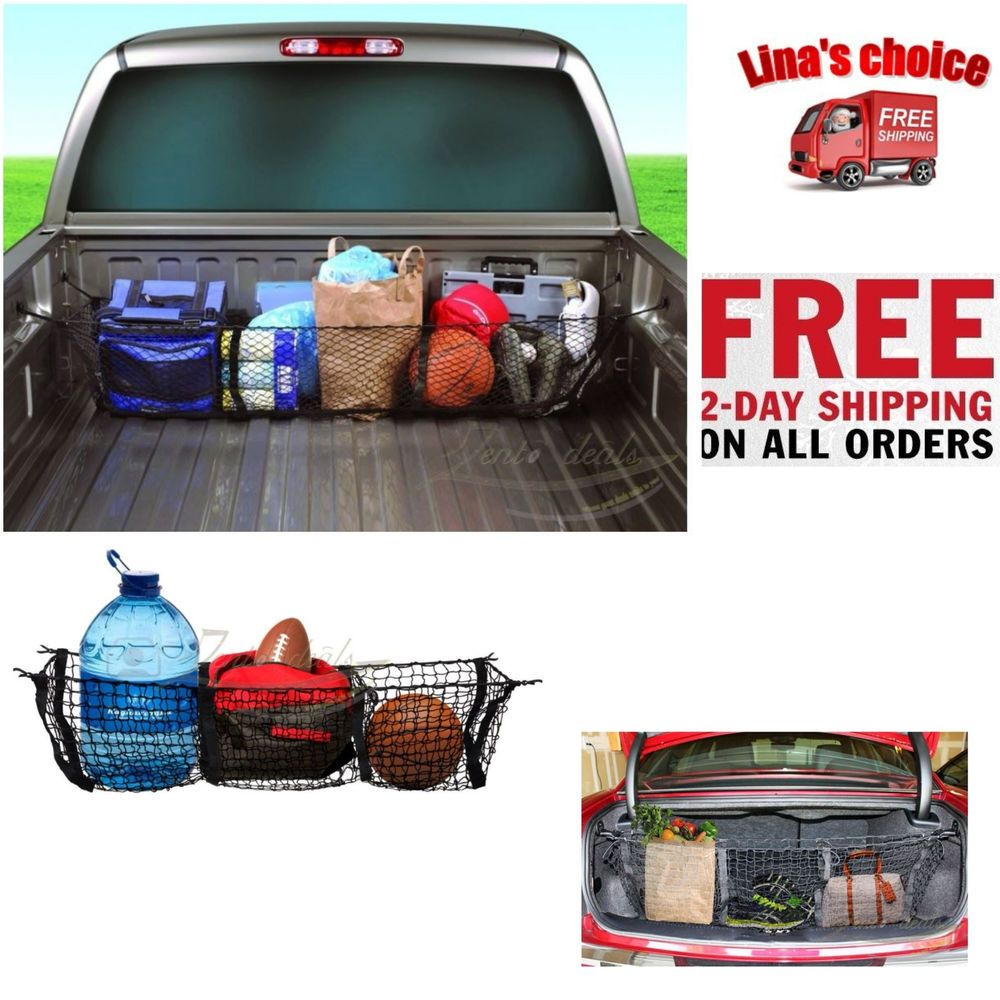 Truck Bed Cargo Net >> Truck Bed Cargo Net For Pick Up Ratcheting Stabilizer Holder Storage