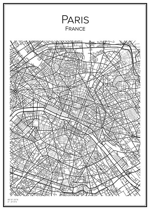 Paris Paris Handritat Och Svartvitt