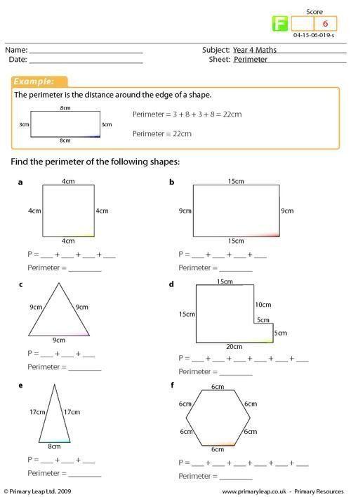 Perimeter Worksheets 3rd Grade Pdf Perimeter Math ...