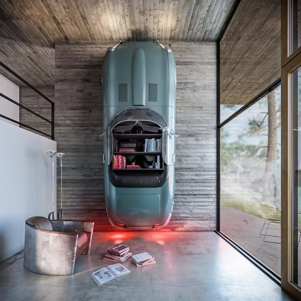 More on designer jamie drake the king of color simplified bee - A Car Is Up Cycled To Serve As Ambient Lighting And A Bookshelf In This Incredibly Fun Room Design House In Nature By Design Raum