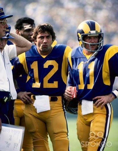 Joe Namath And Pat Haden La Rams Rams Football La Rams Football Nfl Football Players