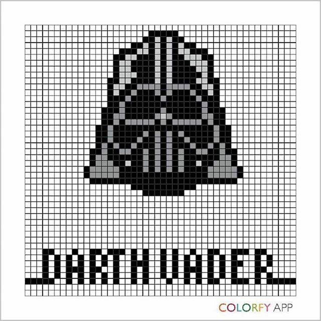 Darth Vader Star Wars Pixel Art By Endomich Cross Stitch