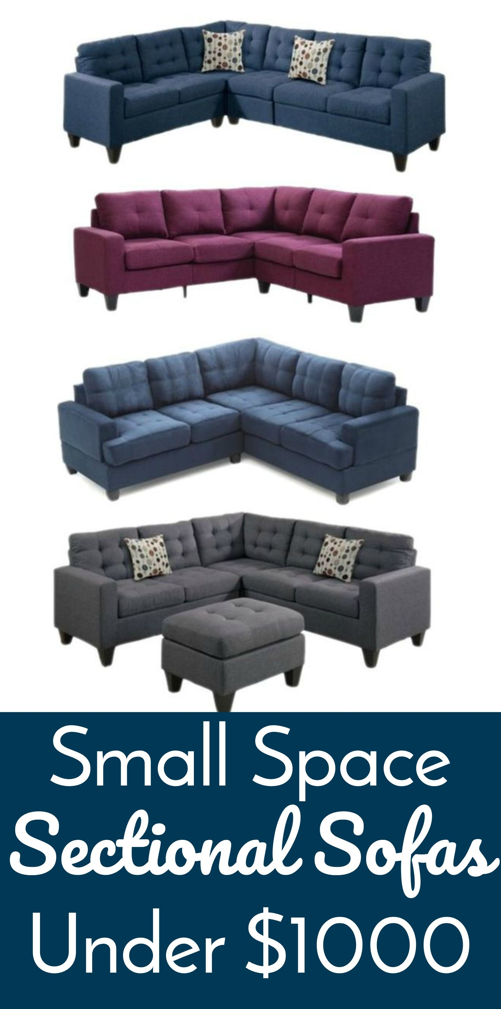 Superbe Small Space Sectional Sofas Under $1000