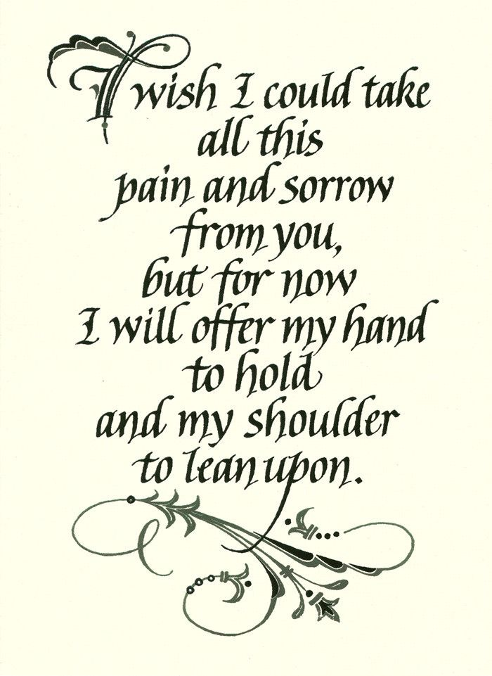 I Wish I Could Take All This Pain Sympathy Card Holly Monroe