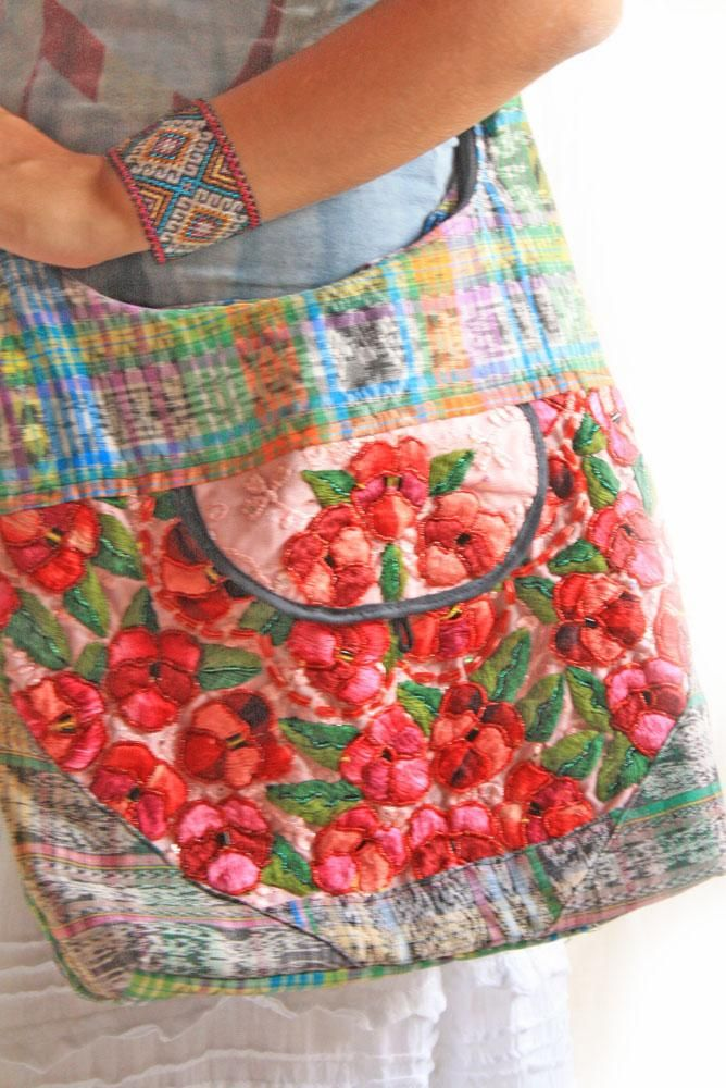 Mexican Vintage Fl Embroidered Bag