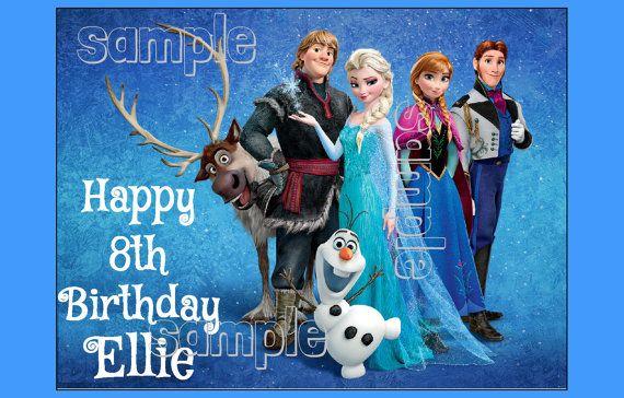 FROZEN Anna Elsa EDIBLE image cake topper by FairymomsEdibles, $8.00