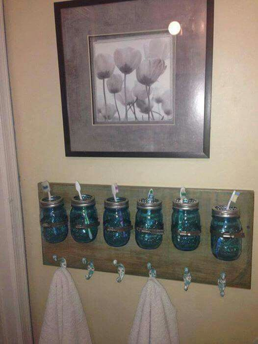 towel holder ideas. For A Bathroom Shared By Multiple Kids. Toothbrush And Towel Holder Ideas