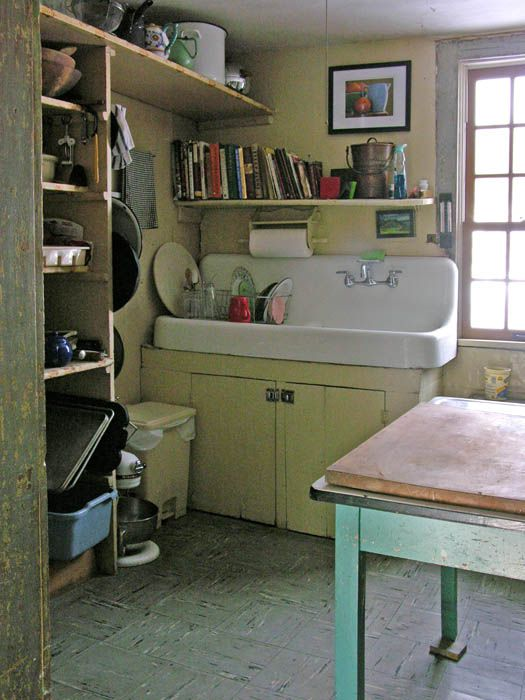 farmhouse sink  My husband has one of these that we are going to paint...not sure where we will put it.  We are adding a bathroom to our basement and maybe we will use it in there!  That would be different (Dawn)
