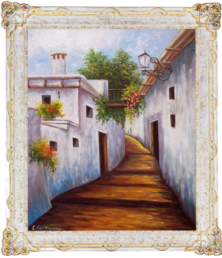 Mediterane Landschaft Gemälde moderne Kunst Malerei Original Bild E ...