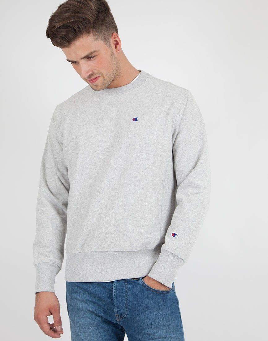 Champion light grey reverse weave terry cotton hoodie Clearance Authentic Sale Purchase Reliable Sale Online Free Shipping Marketable 8gbga