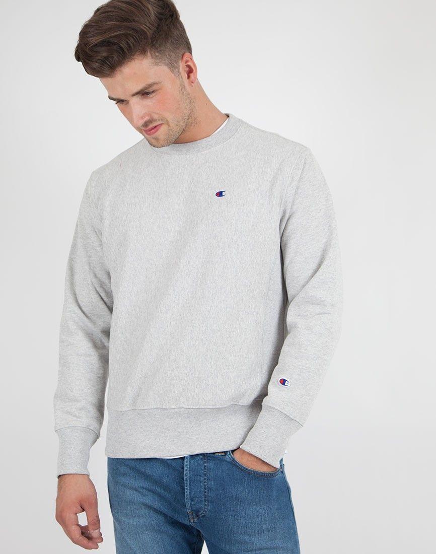 Champion Classic Reverse Weave Sweatshirt Grey | Crew neck sweatshirt
