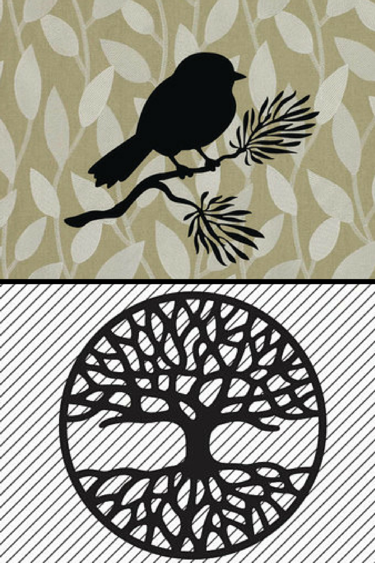Bird on a tree branch instant download-svg -ai -dxf -cdr -pat -jpeg ...
