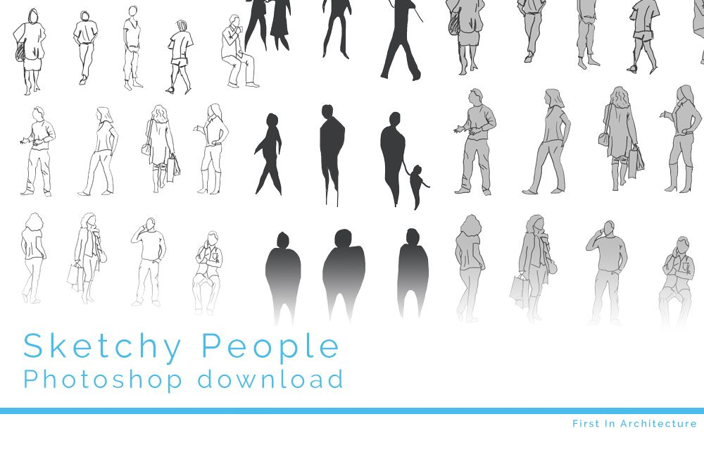 Sketchy people psd download | Architecture people ...