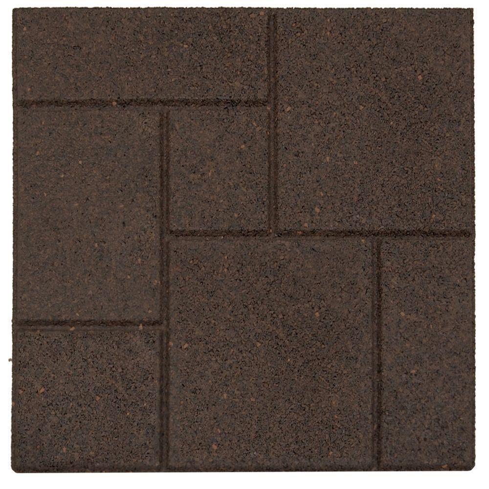 Envirotile Cobblestone Earth 18 In. X 18 In. Rubber Paver MT5000637 At The