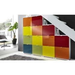 Reduced shoe cabinets  uno shoe cabinet body Rainbow  white  dimensions cm W 53 H 174 D 30 wardrobes  clothes r