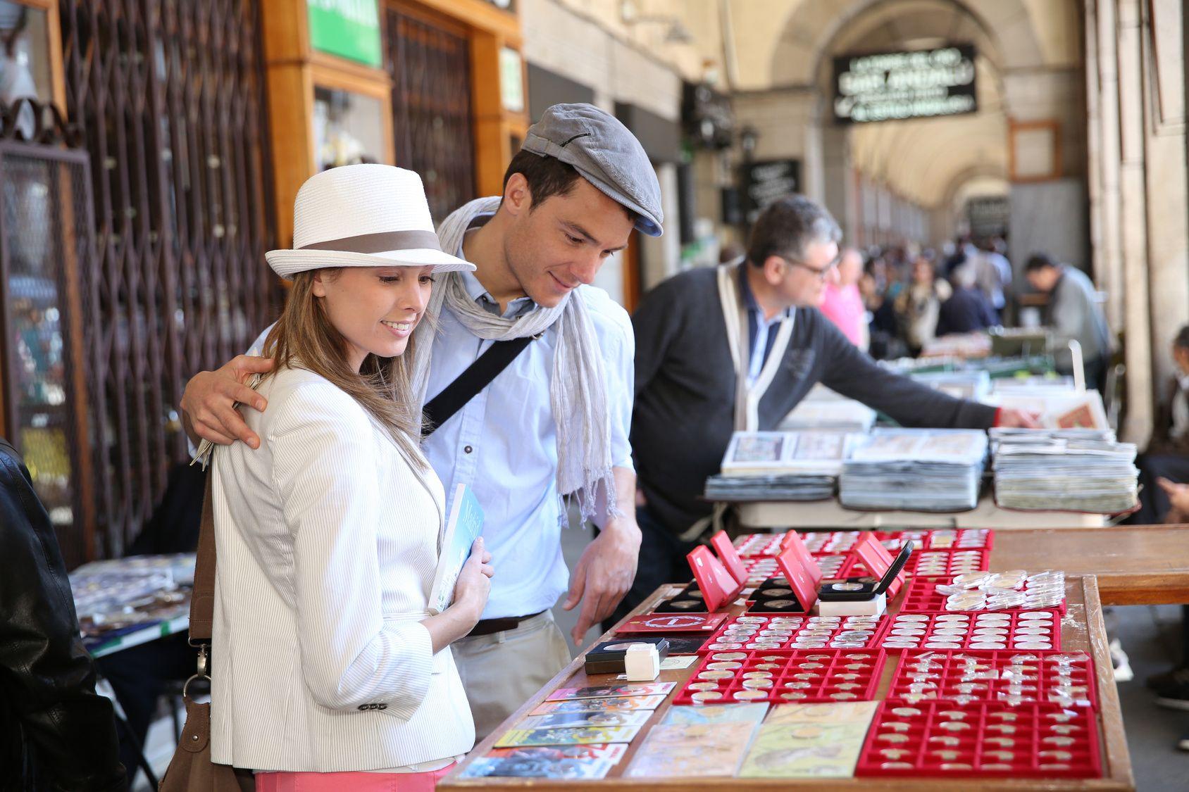 flea market in Madrid Spain