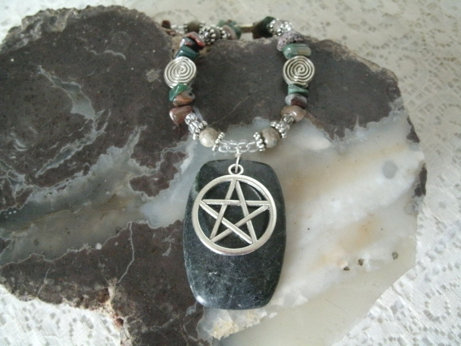Pentagram Necklace Wiccan Jewelry Pagan