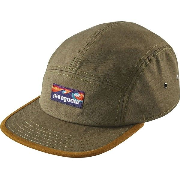 Patagonia Board Short Label Tradesmith 5-Panel Cap ( 35) ❤ liked on  Polyvore featuring accessories 7e2ab63e3e6f