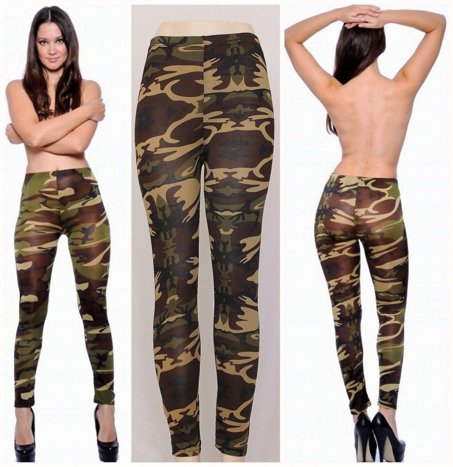 d5ef89f67a616e Camouflage Sexy Leggings Army Olive Green Super Stretch Camo Leggings True  Rock | eBay