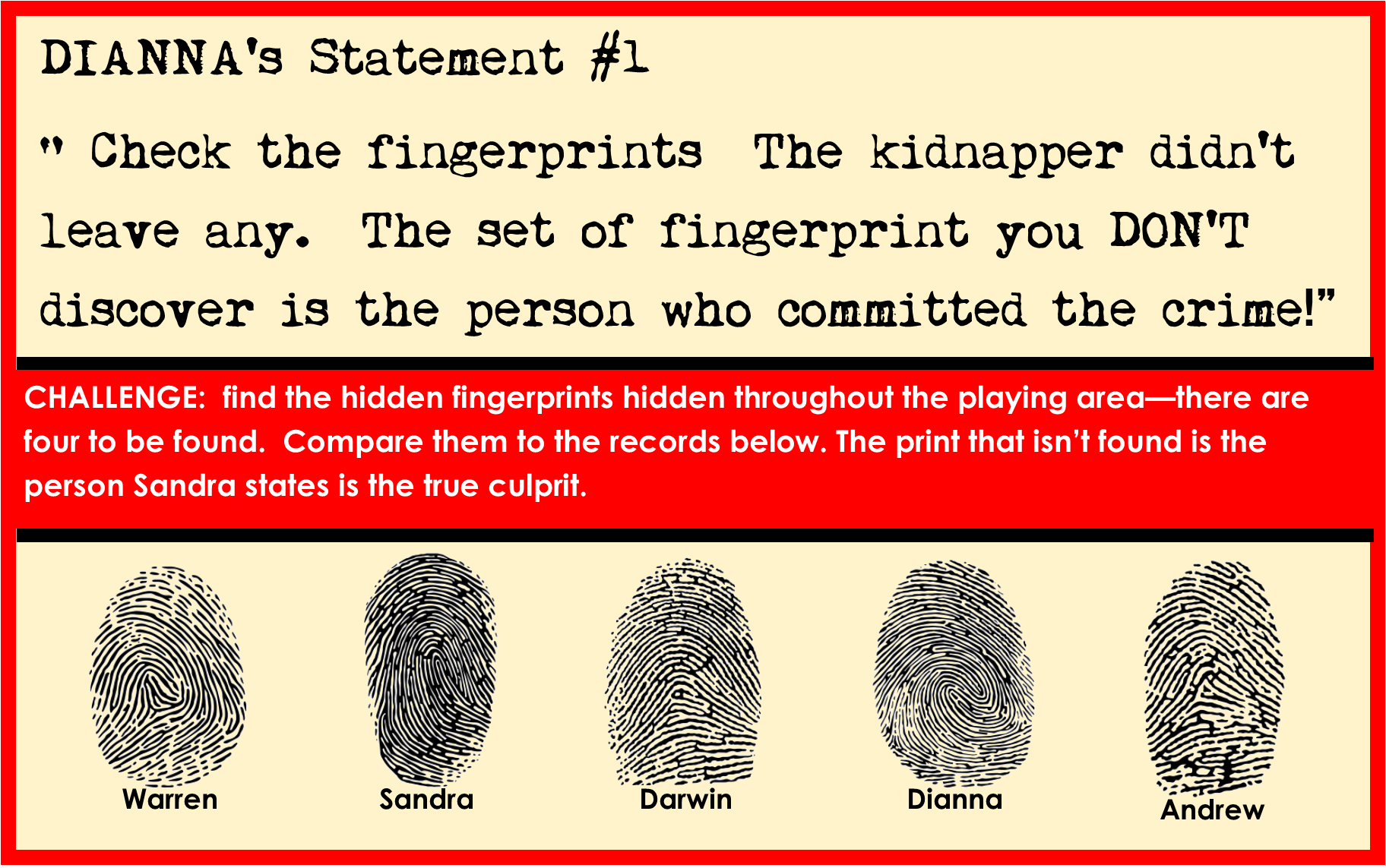 Printable Detective Party Games For Kids Print Out The