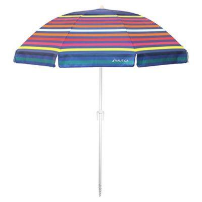 Nautica 7 Beach Umbrella In Rainbow Multi In 2019 Beach