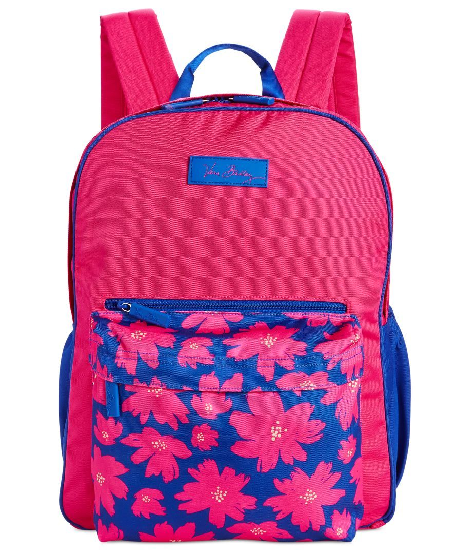 1e49a55a15 Vera Bradley s large colorblock backpack lightens your load considerably  while still fitting everything you need for