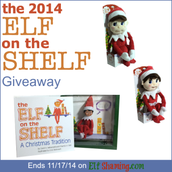 Three winners will receive an Elf on the Shelf just in time for Thanksgiving 2014! | Giveaway | ElfOnTheShelf | Christmas