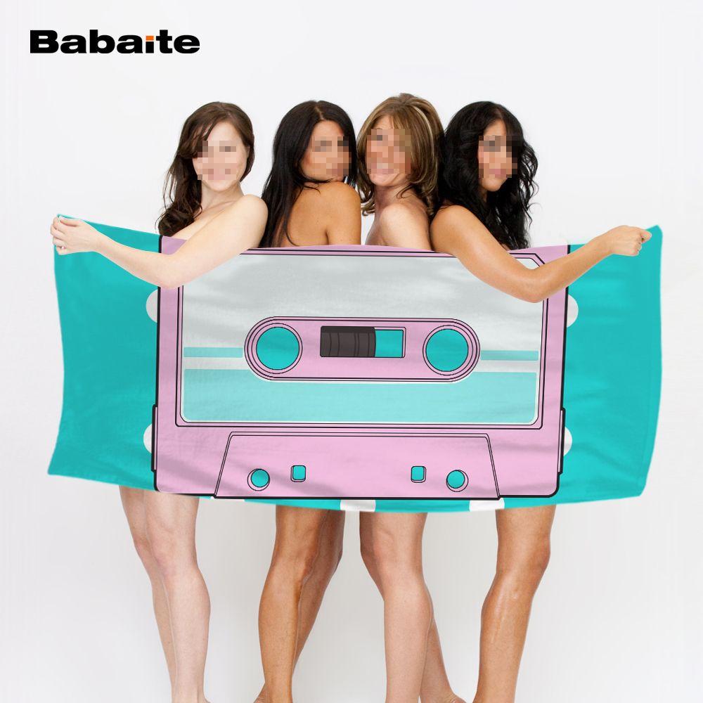 Creative unique cassettes beach towel bathroom shower washcloth