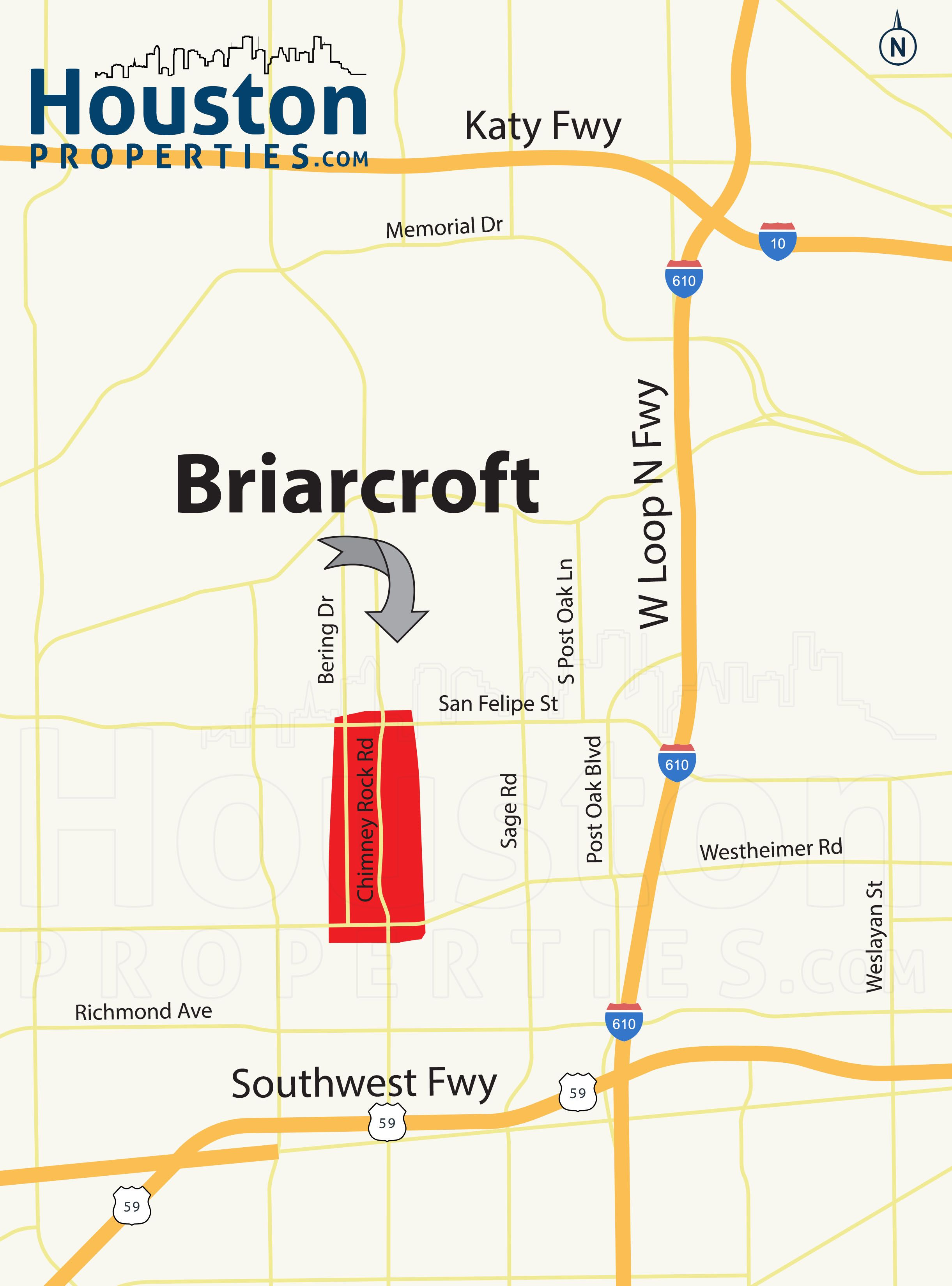 Briarcroft Houston Real Estate Located In The Galleria Uptown Are