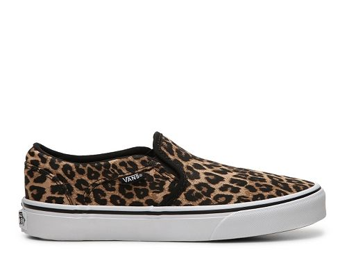 6e93780eaa ❤ Vans Asher Leopard Slip-On