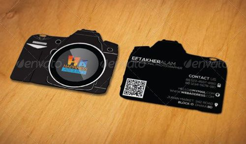 Photographer name Card BEST PHOTOGRAPHER BUSINESS CARDS EXAMPLE - name card example