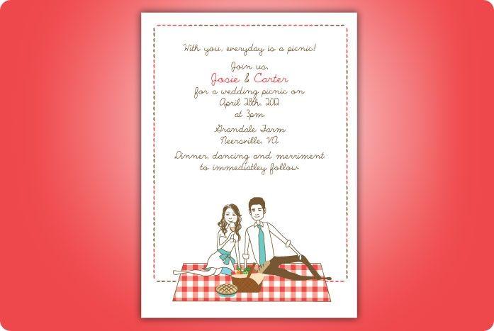 Picnic Reception Wording TearDrop Weddings - Picnic Wedding - best of invitation wording lunch to follow