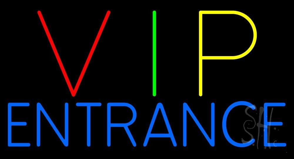 Vip Entrance Neon Sign 20 Tall X 37 Wide X 3 Deep Is 100