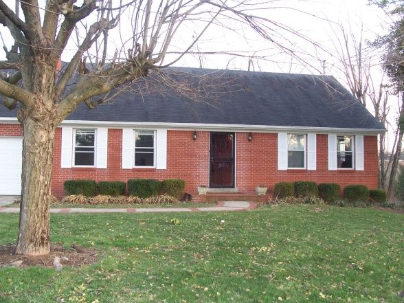 Red Brick Exterior Paint Colors Ugly Brick Ranch Needs Facelift 1950s Red Brick Ranch Wants
