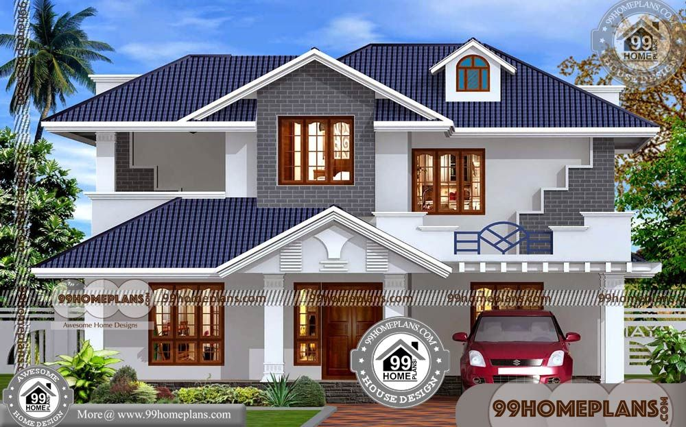 New House Design In India 80 Modern Double Story House Plans