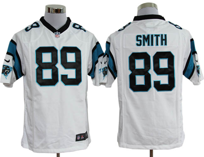 Men's NFL Carolina Panthers Steve Smith Game White Jersey $19.58