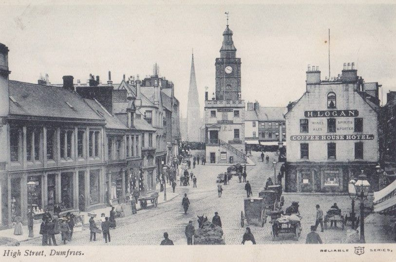Dumfries maybe 1880's as Coffee house Hotel is Logans