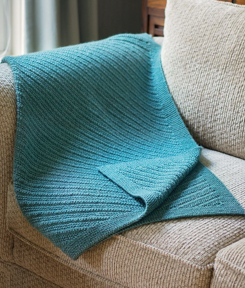 Knitting Pattern For Reversible Ennismore Lap Blanket This Blanket