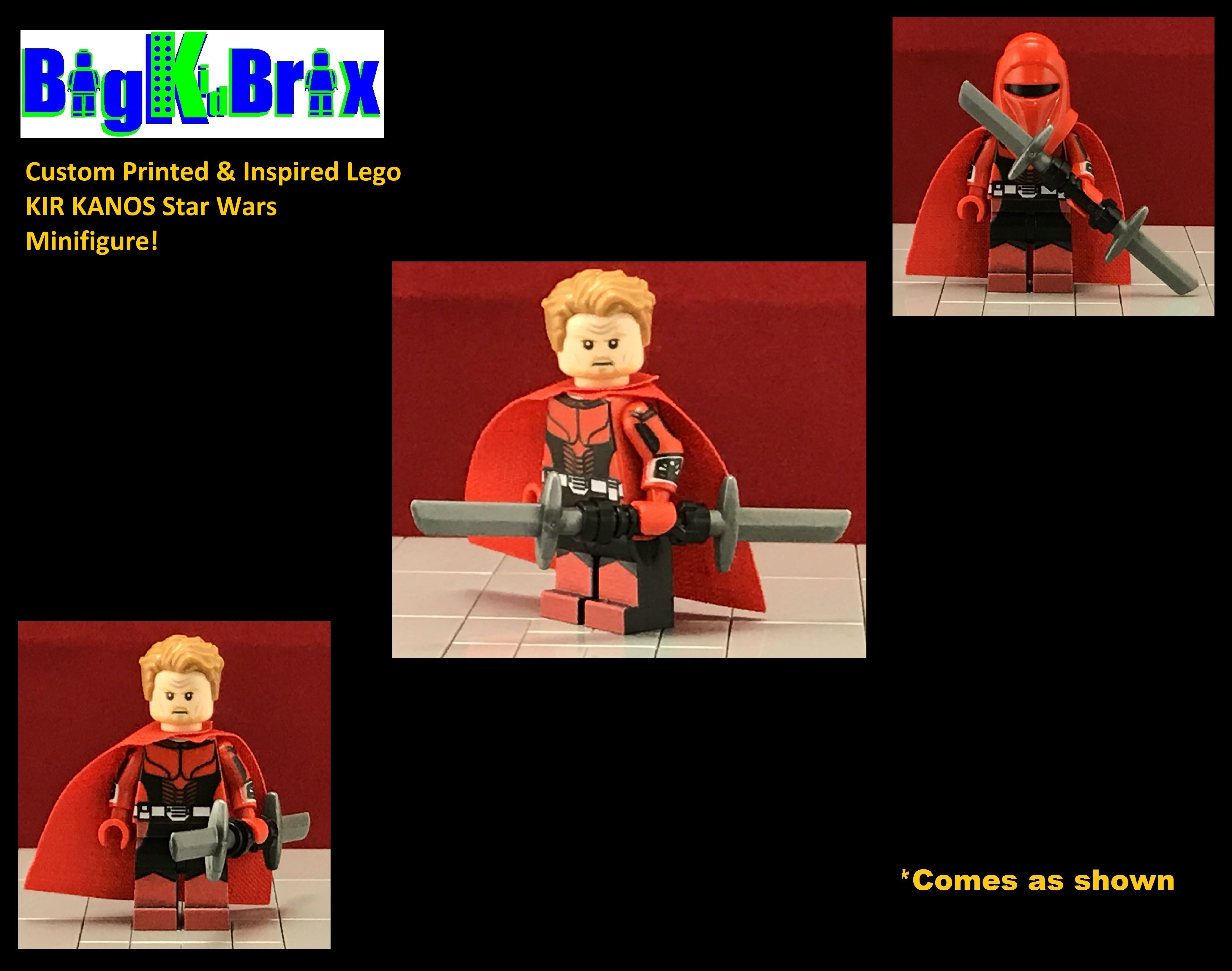 KIR KANOS Custom Printed /& Inspired Lego Star Wars Elite Guard Minifigure