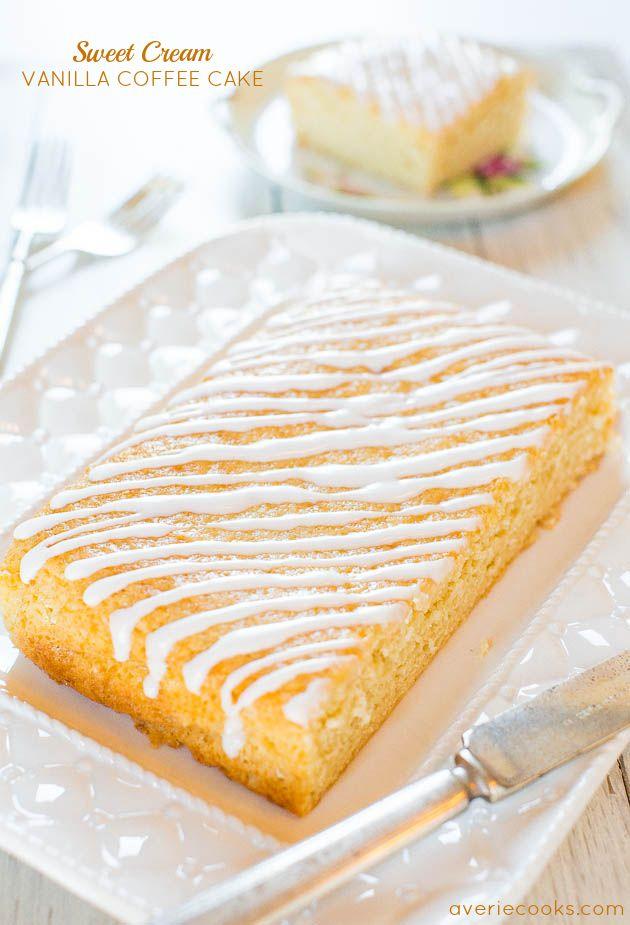 스위트 크림 바닐라 커피 케이크