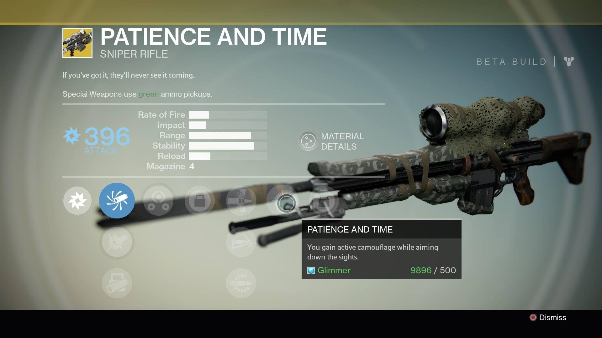 Patience and Time (Year 2)   My Destiny Armory   Destiny, Destiny