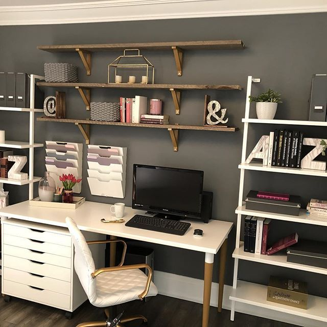 We Are So Happy With This Home Office We Just Completed