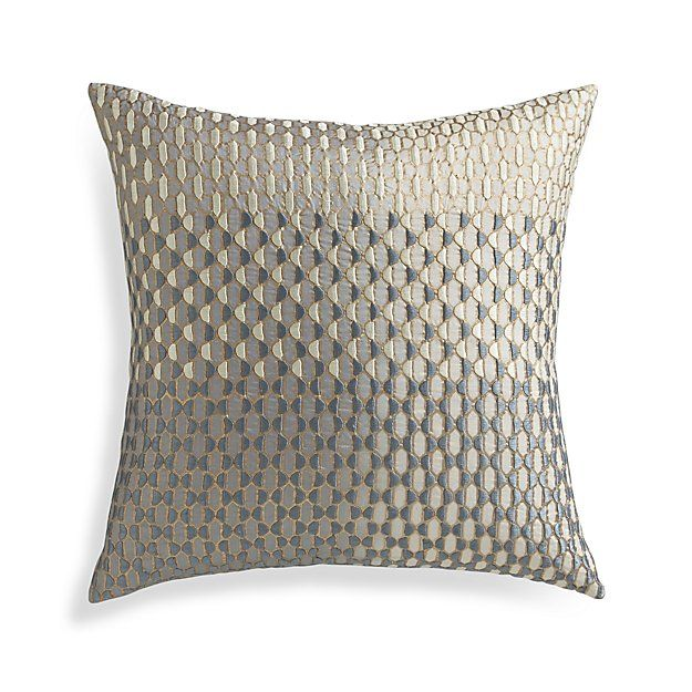 Free Shipping Shop Nikolai 18 Pillow With Feather Down Insert Nikolai S Opulent Modernism Embellishes Grey Silk With A Glam Pillows Pillows Throw Pillows