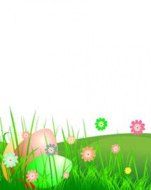 Fresh Easter theme with flowers Free Vector