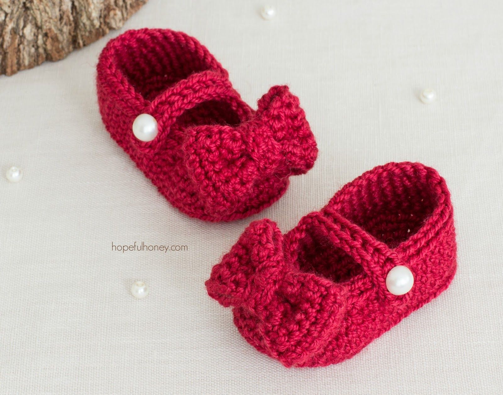 Ruby Red Mary Jane Booties - Free Crochet Pattern | Bebé de ...