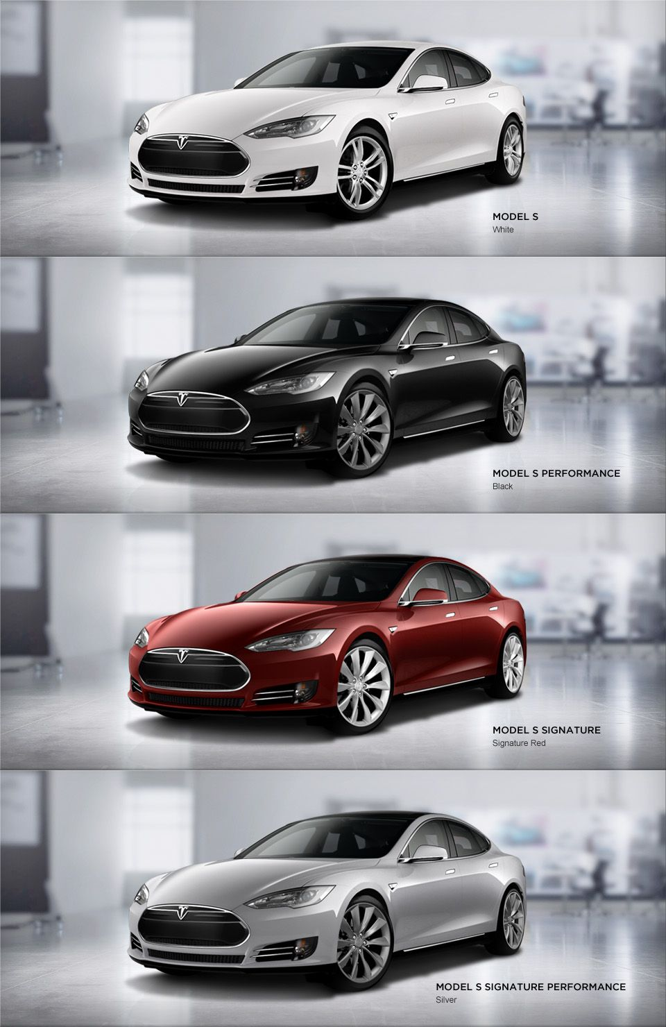 Model S Signature Series Colors