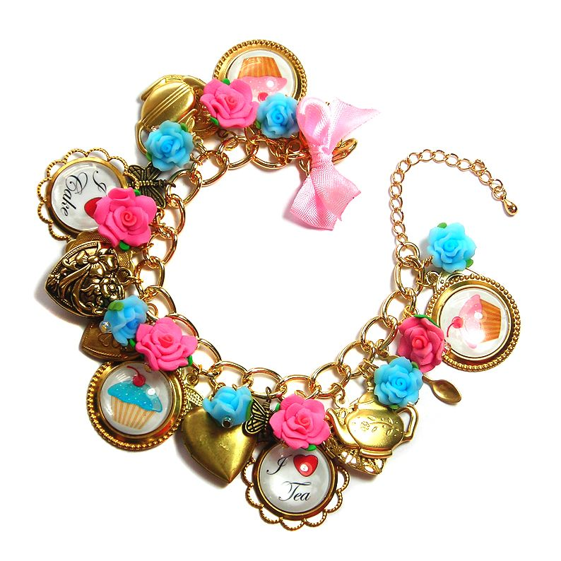 I-love-tea-and-cake-vintage-style-hand-made-charm-bracelet-by ...