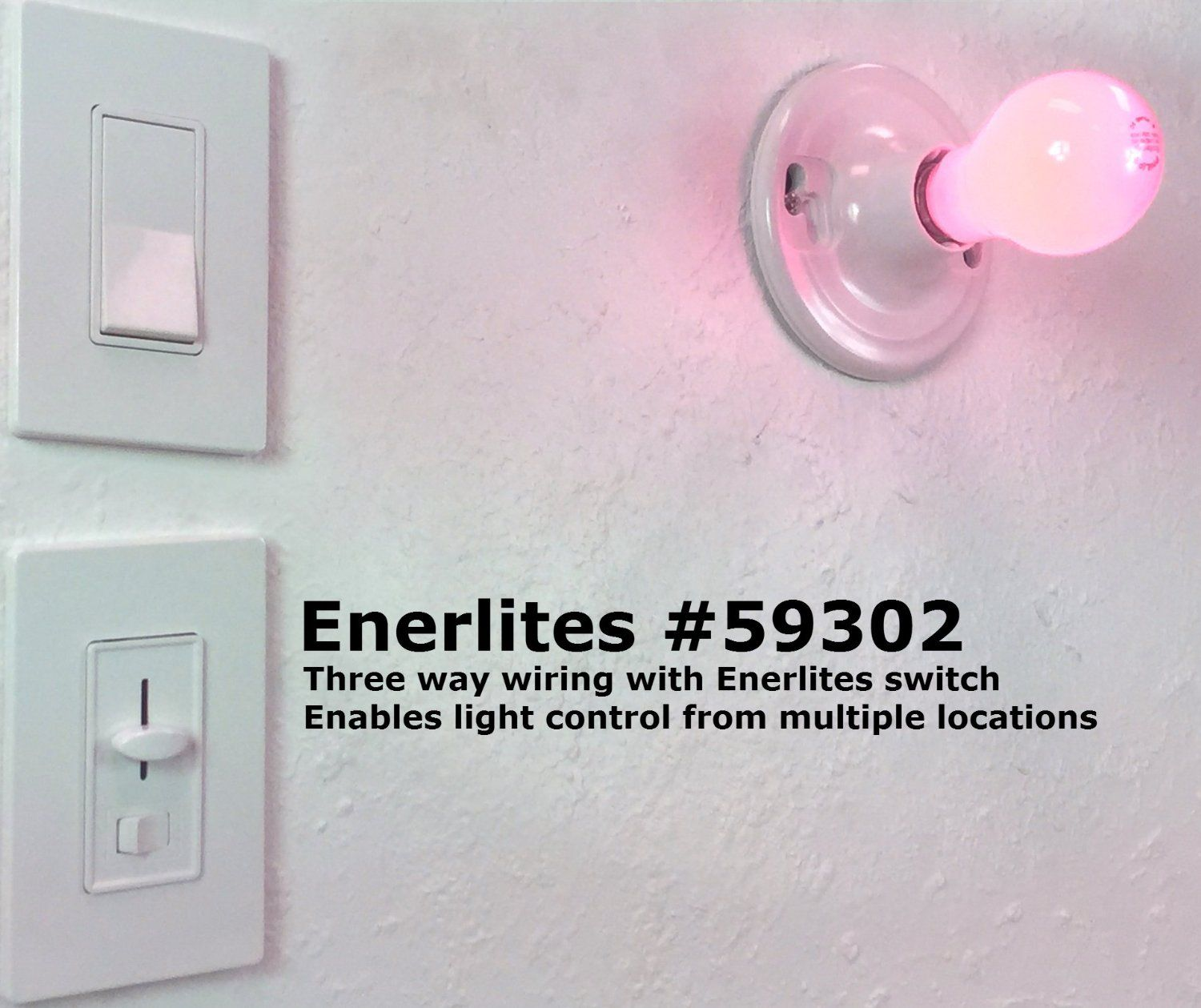 3 Way Led Light Switch Enerlites 59302 Universal Dimmer Cfl 150 Watt And Incandescent