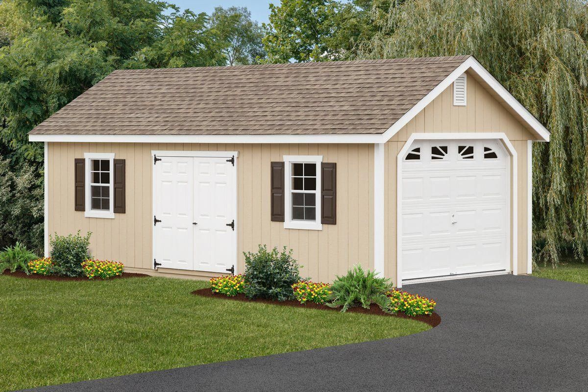 12 Ft W X 26 Ft D Solid Wooden Garage Shed Garage Shed Shed Design Shed To Tiny House