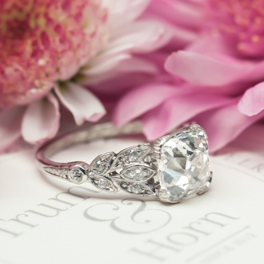 Vintage Art Deco Diamond Engagement Ring |Cypress Point | Jewelry ...